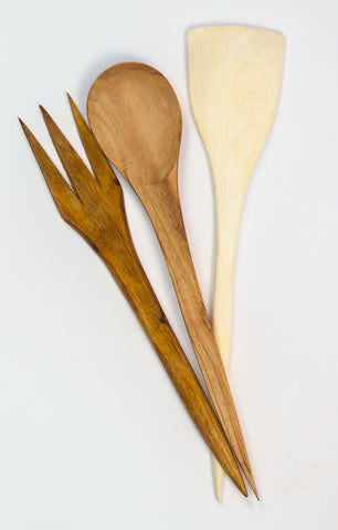 Large Wooden Serving Set