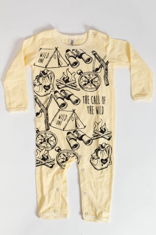 Call Of The Wild Onesie Yellow