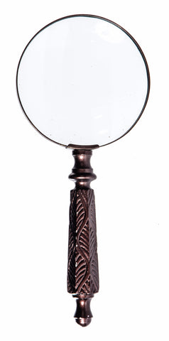 Brown Leaf Handle Magnifying Glass