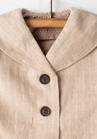 Brown Pinstripes Jacket