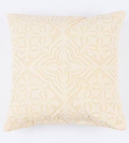 Pale Yellow 16x16 Applique Pillow Cover