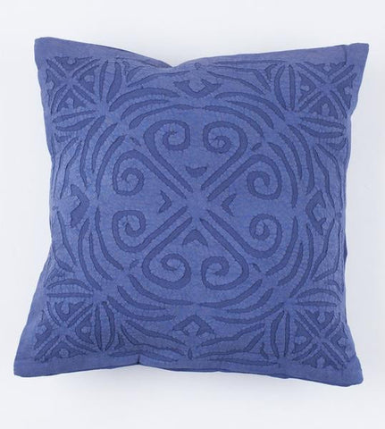 Indigo 16x16 Applique Pillow Cover