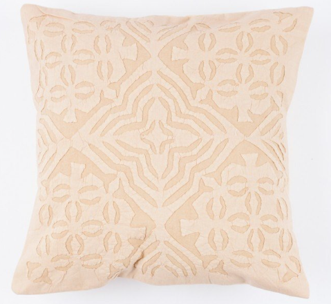 Faded Peach 16x16 Applique Pillow Cover