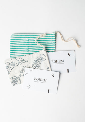 Bohem Gift Card with Bag Mailed