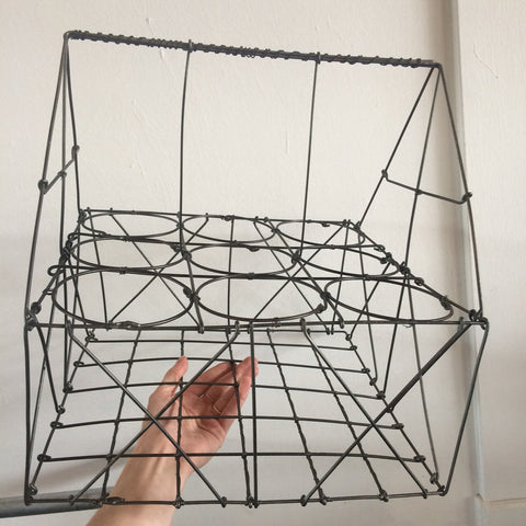 Tall Wire Milk Bottle Basket