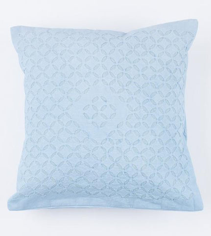 Baby Blue 16x16 Applique Pillow Cover