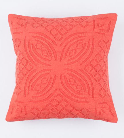 Faded Red 16x16 Applique Pillow Cover