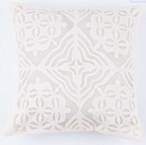 Off-White Diamond 16x16 Applique Pillow Cover