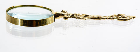 Small Decorative Gold Handle Magnifying Glass