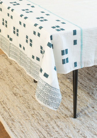 Geo-Block Table Cloth