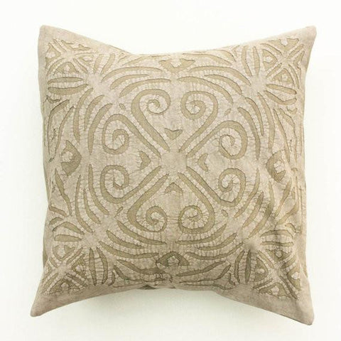 Sage Swirl 16x16 Applique Pillow Cover