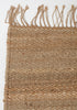 Natural Weave Jute Rug with Tassles