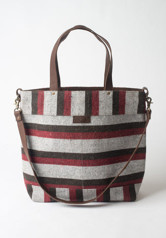 Striped Khadi Tote