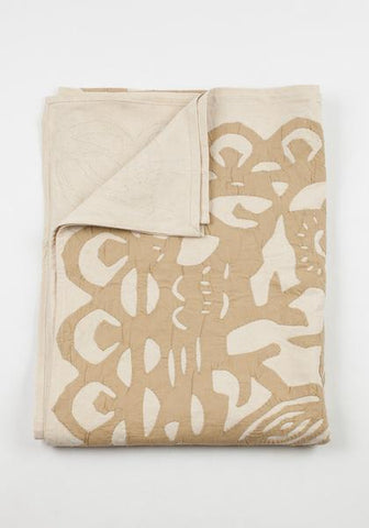 Beige Butterfly Blanket Twin -- Sale