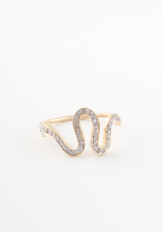 Diamond Arch Serpent Ring