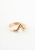 Tiny stackable triangle diamond ring