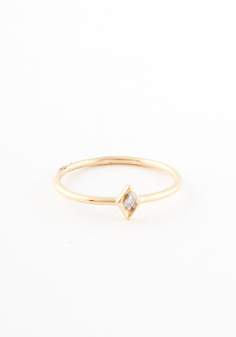 Delicate Tiny Triangle Diamond Ring