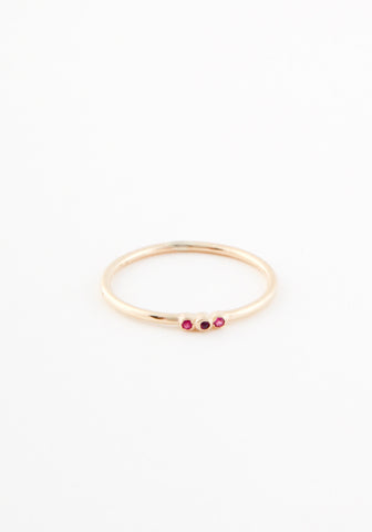 Tripple delicate ruby ring