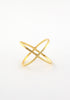 Delicate brass cross ring