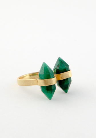 Double post stone ring