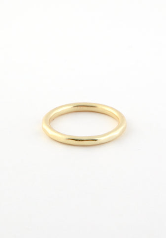 Hammered gold band