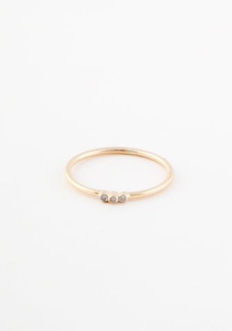 Tripple gold diamond ring