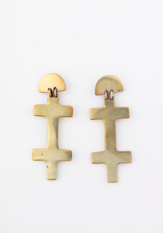 Double Cross Earrings