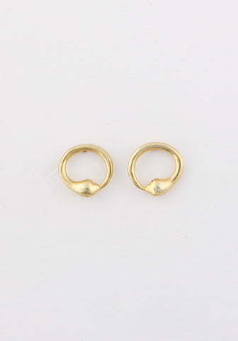 Halo serpent earrings