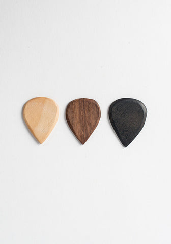 Handmade Wood Guitar Picks