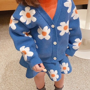 Sweater & Skirt Set, Cape Daisy