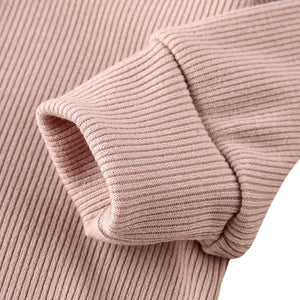 Ribbed Footless Jumper, Stone