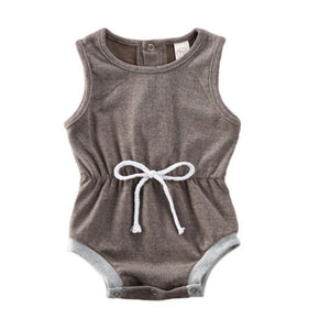Tank Top Tie Romper, Soft Heathered Grey