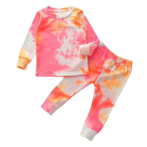 Two Piece Tie Dye Set, Sherbet