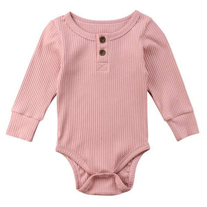Ribbed Button Bodysuit, Subtle Mauve