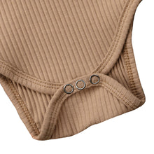 Load image into Gallery viewer, Ribbed Button Bodysuit, Beige