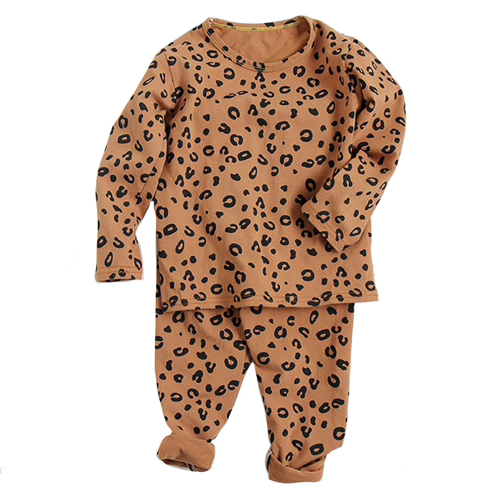 Leopard Lounge Set, Brown