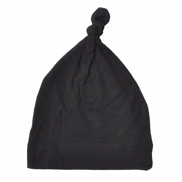 Newborn Knotted Hat, Black