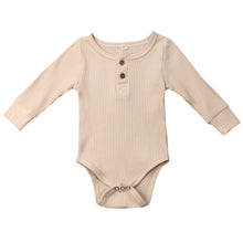 Load image into Gallery viewer, Ribbed Button Bodysuit, Ivory