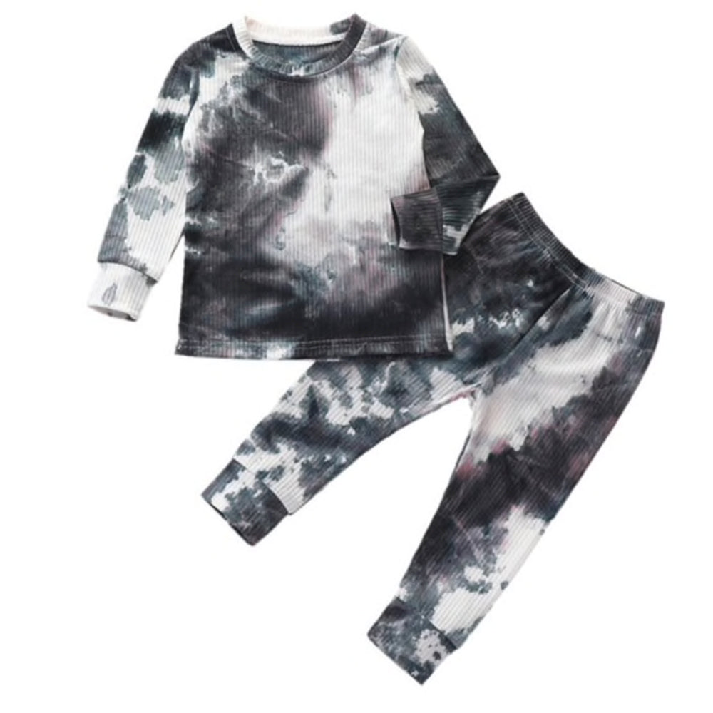Two Piece Tie Dye Set, Ink