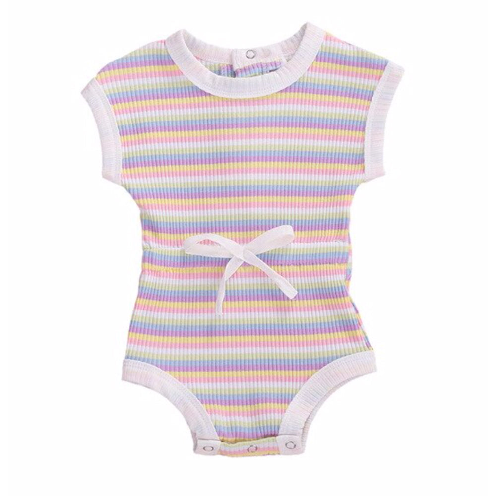 Stripe Playsuit, Passion Pink