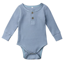Load image into Gallery viewer, Ribbed Button Bodysuit, Powder Blue