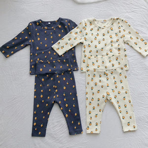 Lemon Drop Baby Set, Ash Navy