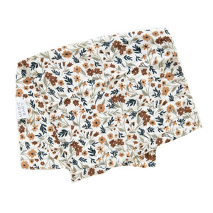 Muslin Burp Cloth, Harvest Floral