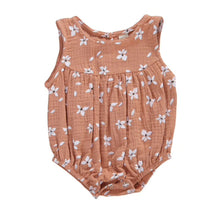 Load image into Gallery viewer, Flower Bubble Romper, Dusty Rose