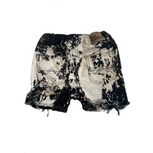 Load image into Gallery viewer, Wrangler Cut Off Shorts, Black Bleach Splatter (size 3)