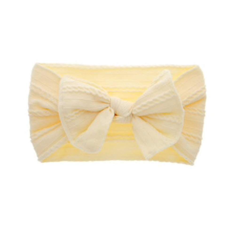 Cable Knit Bow, Cream