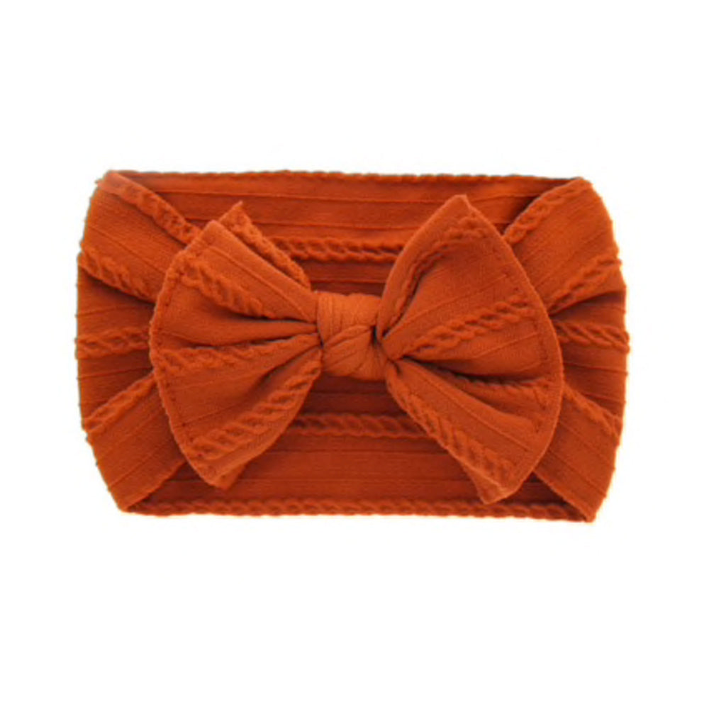 Cable Knit Bow, Poppy