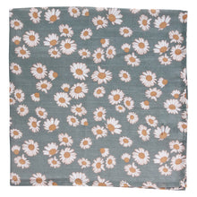 Load image into Gallery viewer, Muslin Swaddle, Blue Daisy