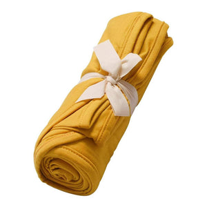 Bamboo Swaddle Blanket, Mustard
