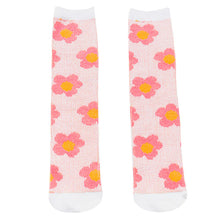 Load image into Gallery viewer, Daisy Socks, Baby Pink